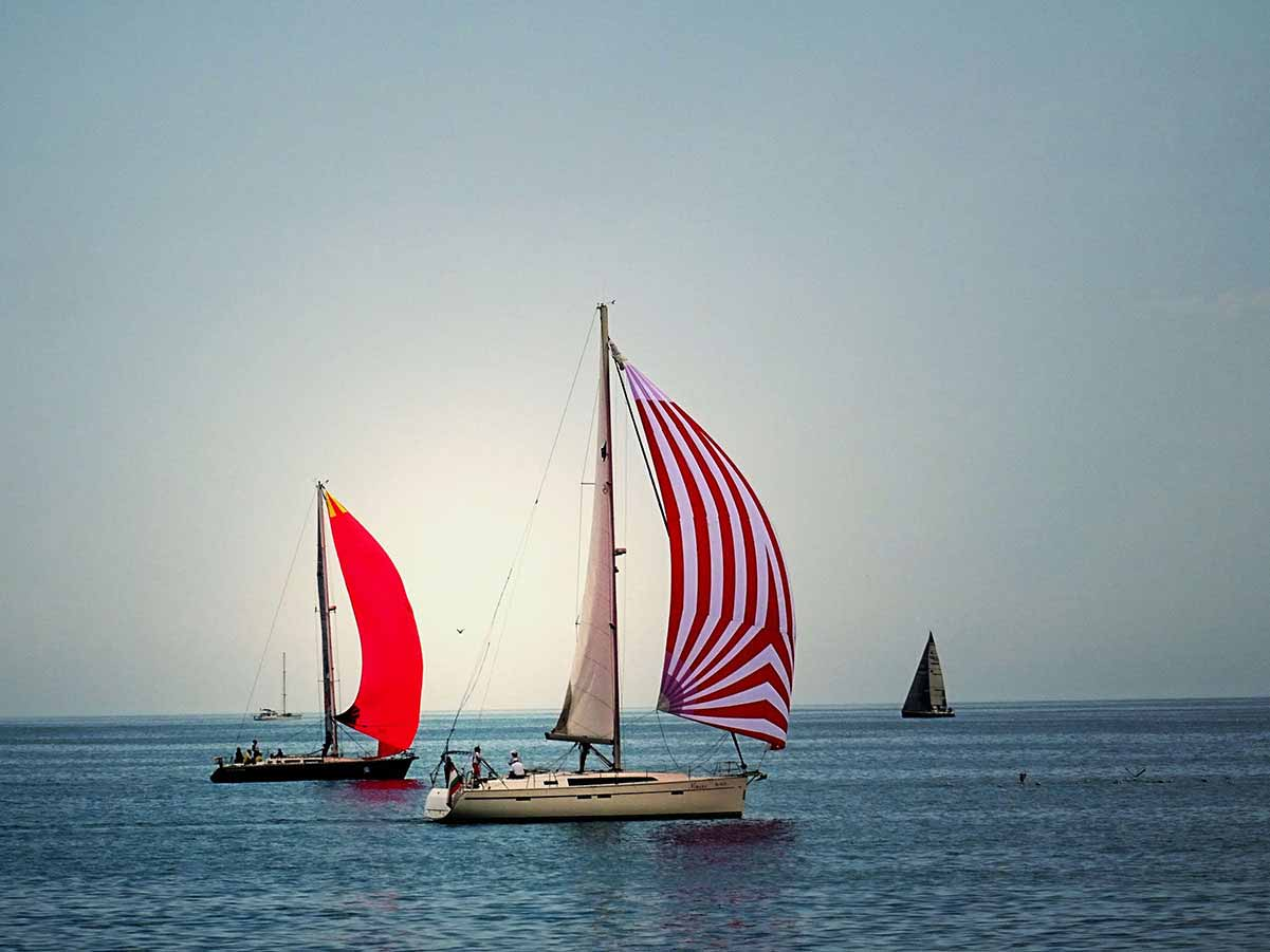 Sailboats - and a calm sea
