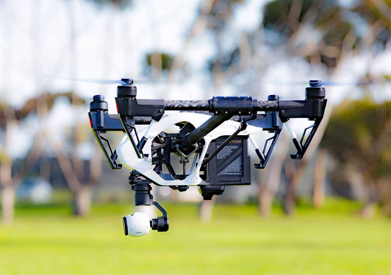 A drone - with a camera