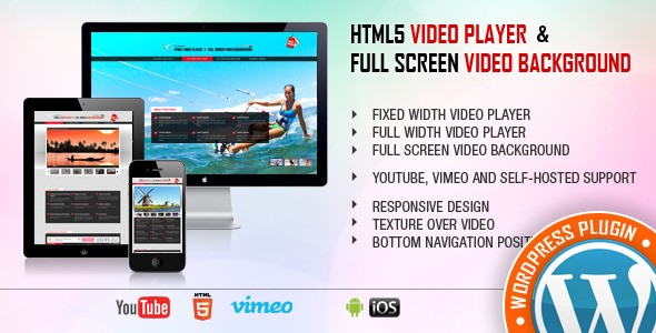 HTML5 Video Player & FullScreen Video Background WordPress Plugin
