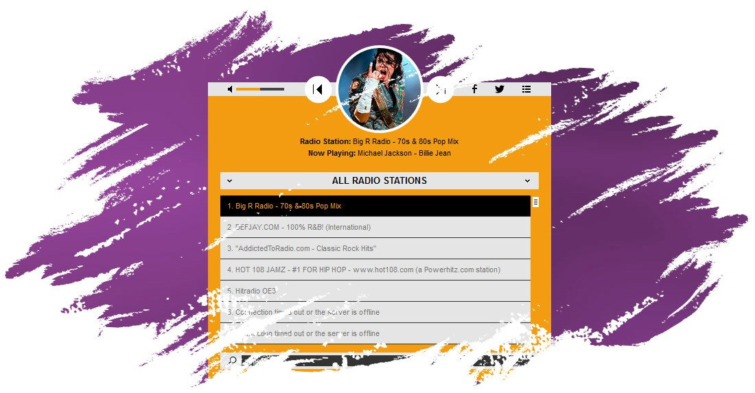 Radio Player Shoutcast & Icecast - WordPress Plugin