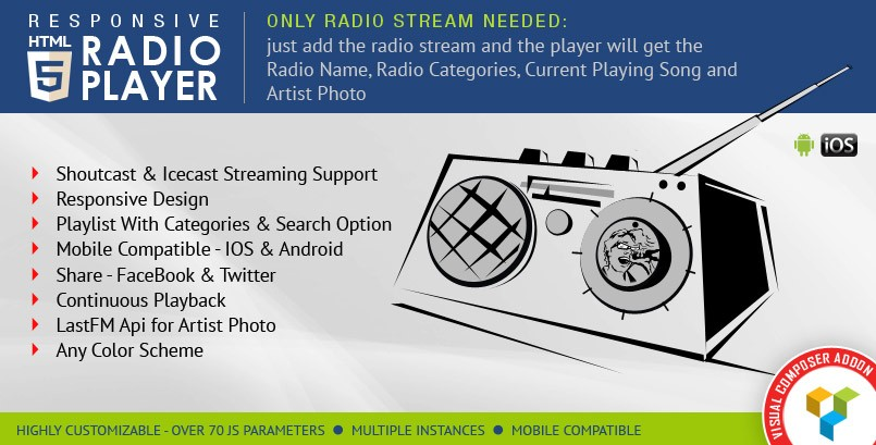 Sticky Radio Player WordPress Plugin
