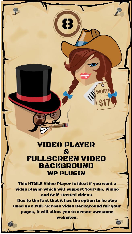 WordPress Video Player & FullScreen Video Background