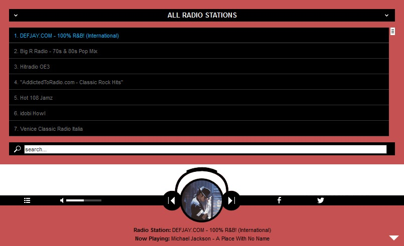 STICKY RADIO PLAYER SHOUTCAST AND ICECAST SUPPORT - EXAMPLE 1