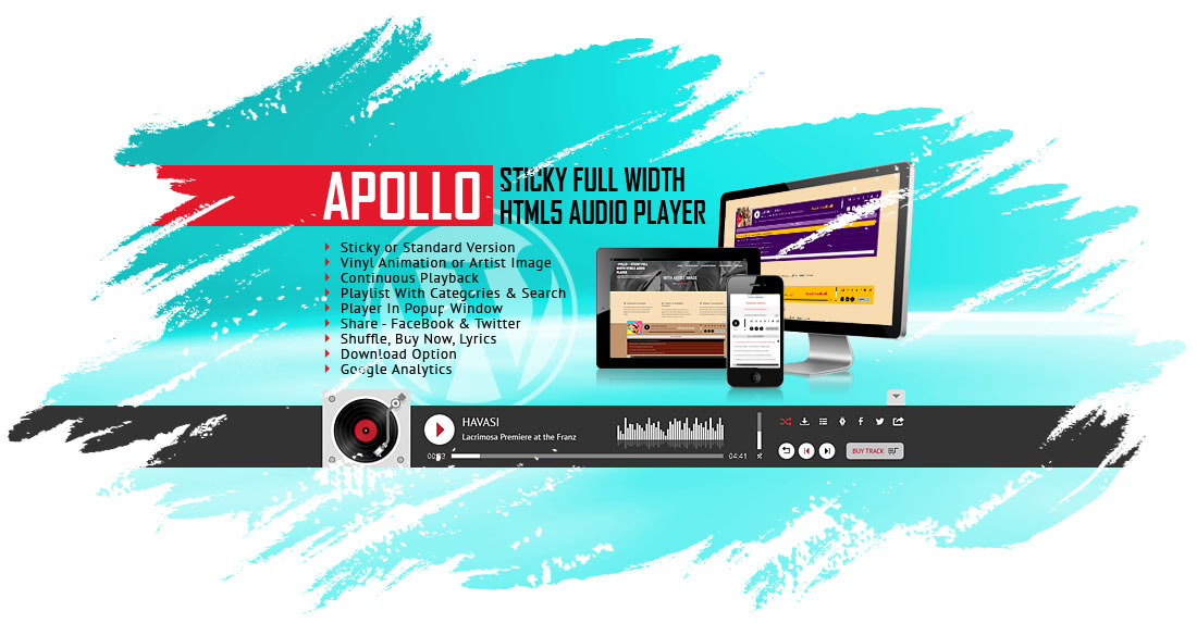 Apollo - Sticky Full Width HTML5 Audio Player WordPress Plugin