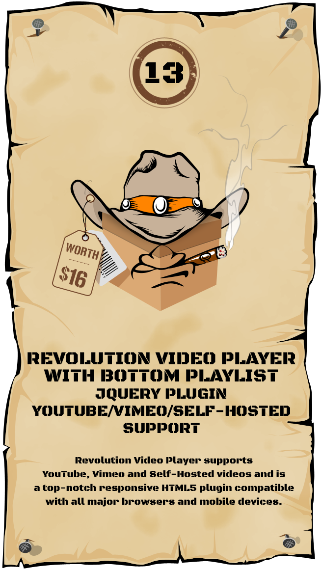 Revolution Video Player With Bottom Playlist - jQuery Plugin