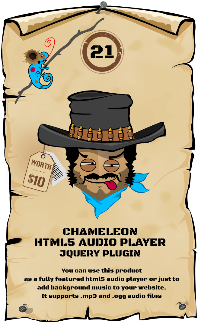 Chameleon HTML5 Audio Player jQuery Plugin