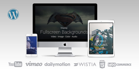 Ultimate Media Background FullScreen Background WordPress Plugin