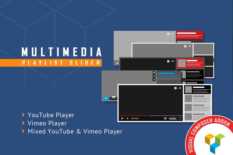 Visual Composer Addon - Multimedia Playlist Slider
