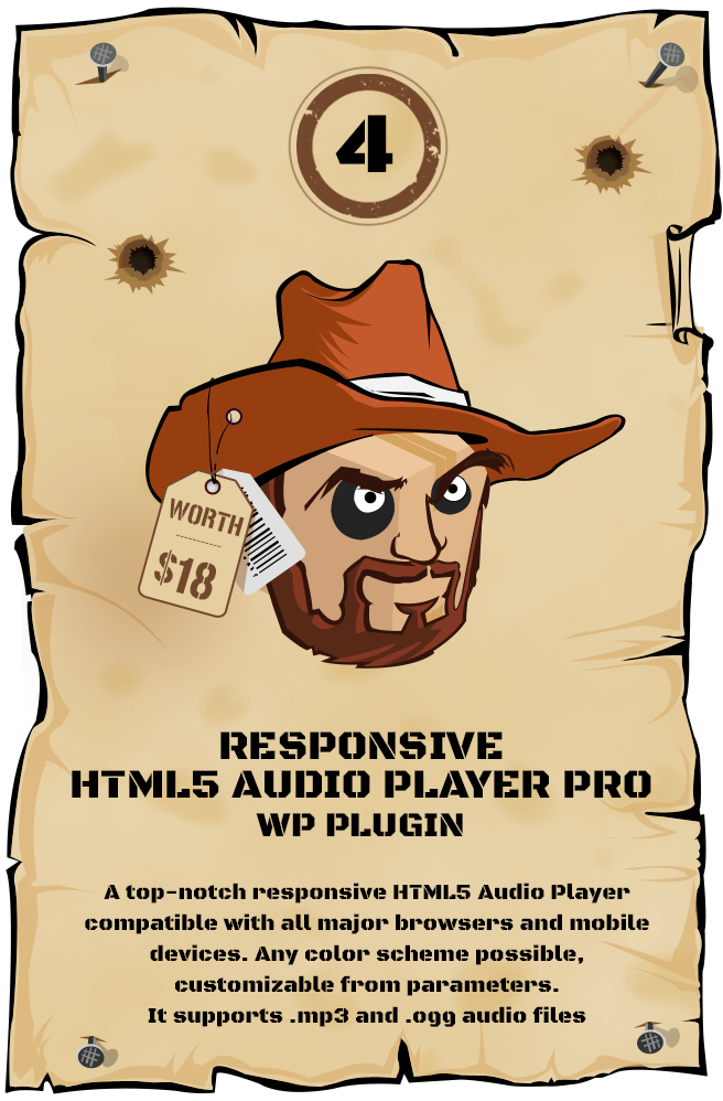 Responsive HTML5 Audio Player PRO WordPress Plugin