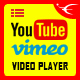 Youtube Vimeo Video Player and Slider JQuery Plugin