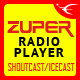 Zuper - Shoutcast and Icecast Radio Player With History - JQuery Plugin