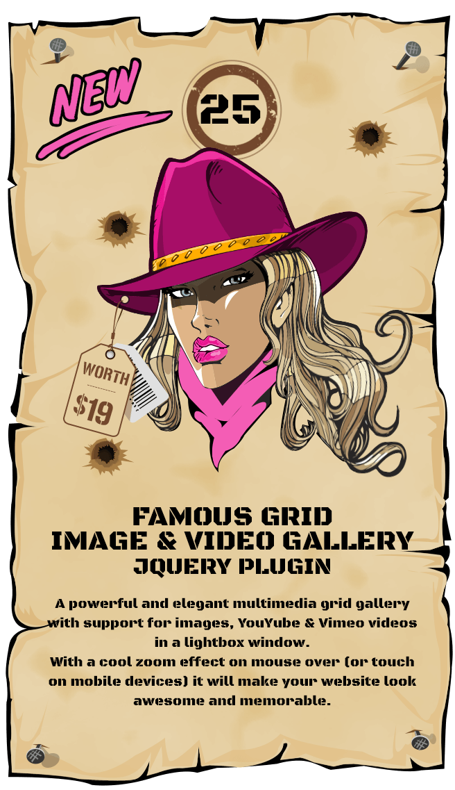 Famous - Responsive Image And Video Grid Gallery - jQuery Plugin