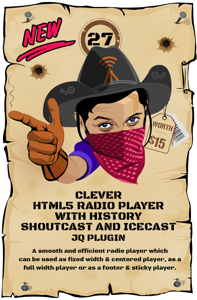 CLEVER - HTML5 Radio Player With History - Shoutcast and Icecast - jQuery Plugin