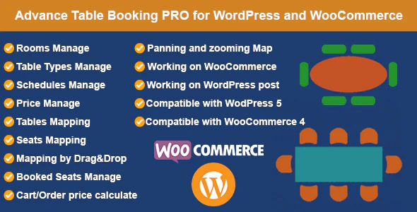 Restaurant Reservation - Table Booking with Seat Reservation for WooCommerce - 8+ Best WordPress Event Calendar, Booking Plugins & Page Builders Addons - Newcomers