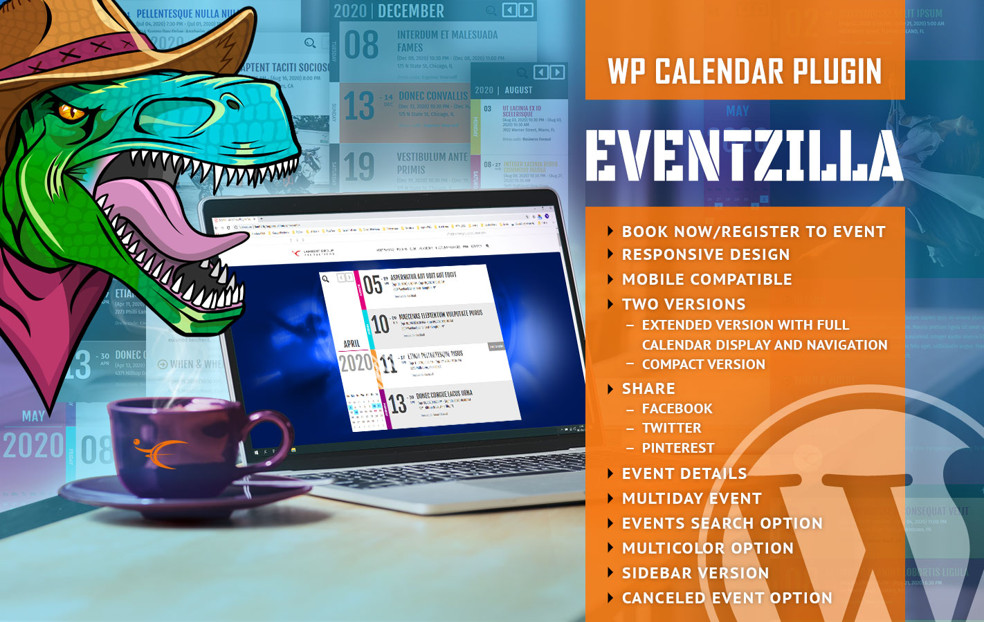 Best WordPress Event Calendar Plugin - EventZilla