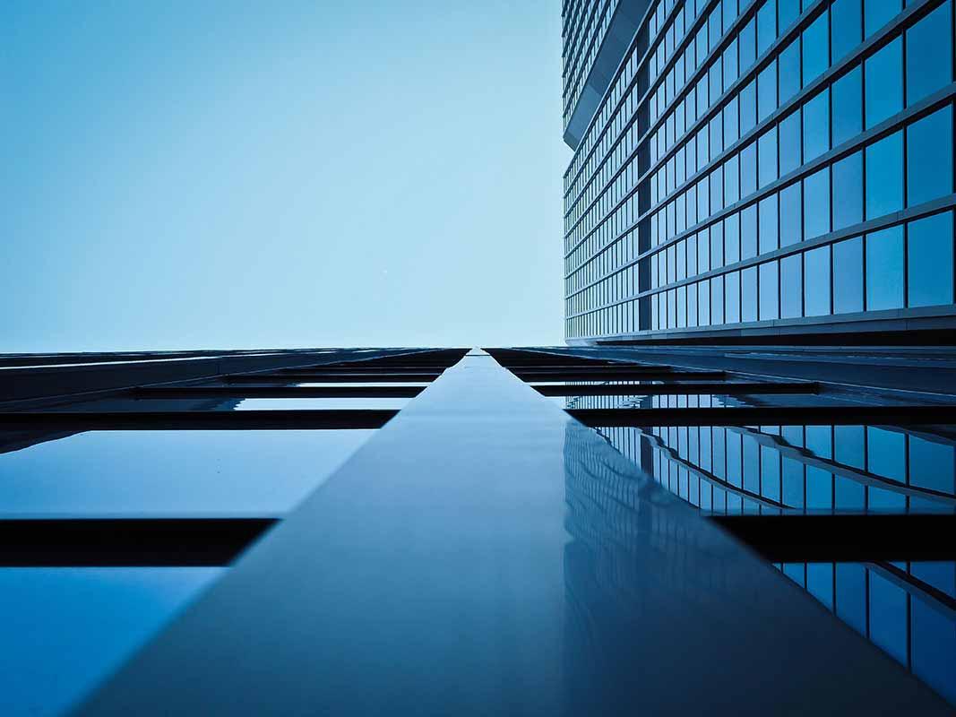 A building facade  - Toward the sky