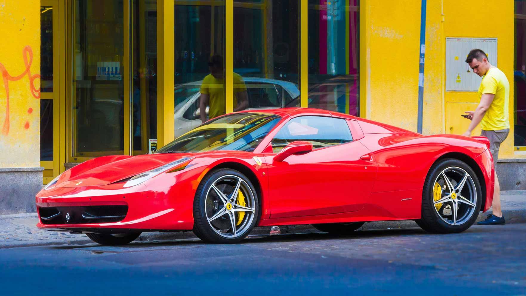 Red Ferrari - that's all