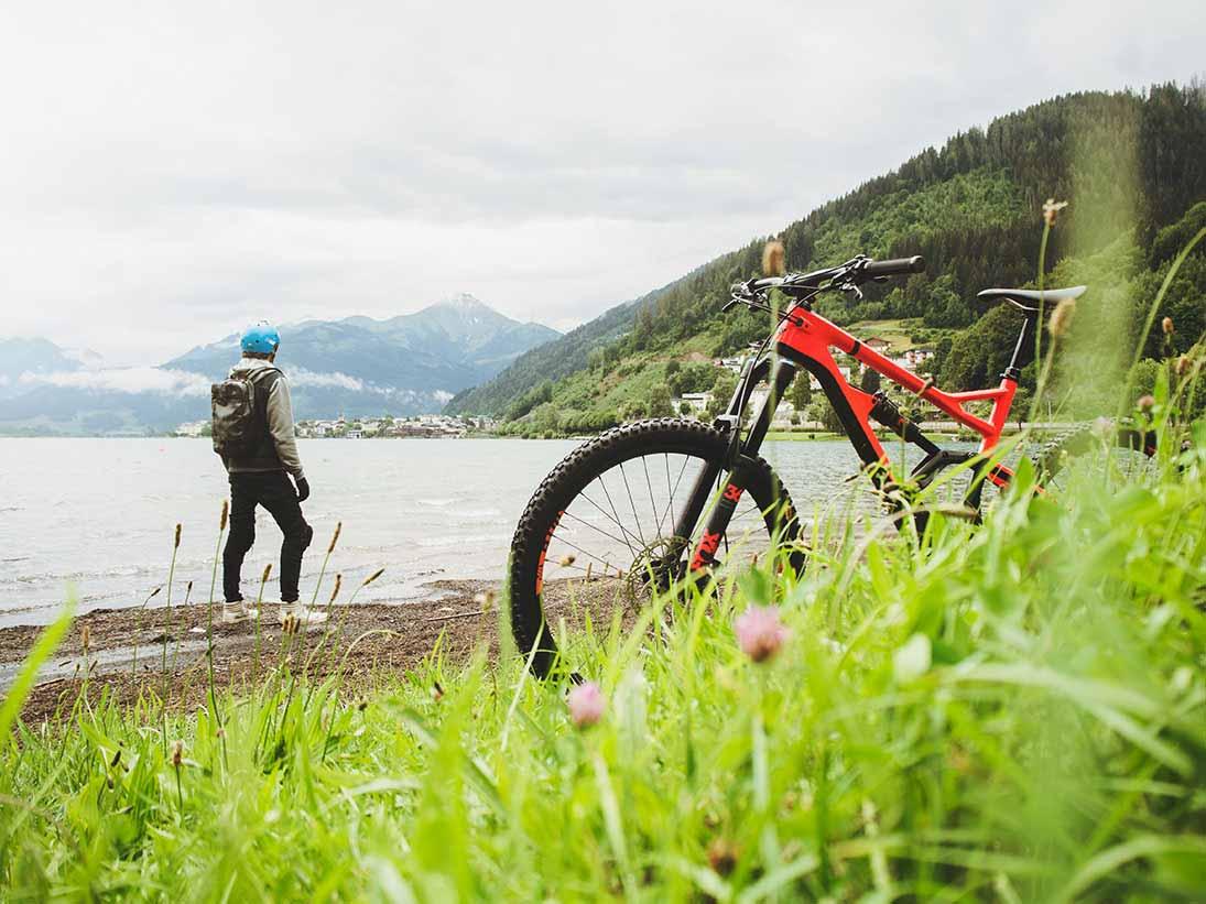Riding the bike - Through the mountains
