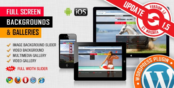 Full Screen Background Image & Video – WP Plugin