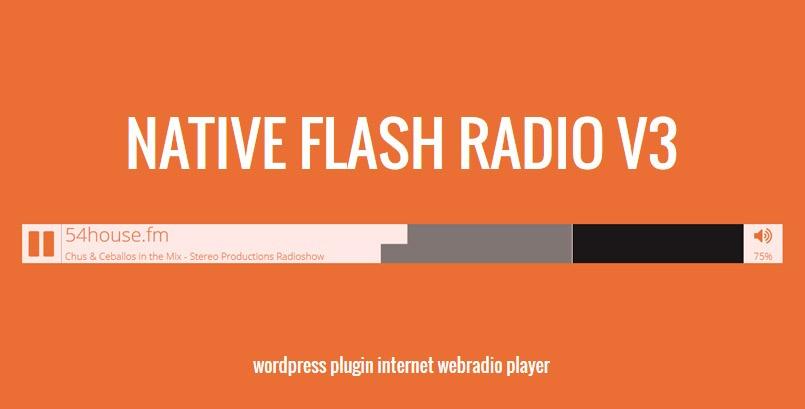 Native Flash Radio WP Plugin