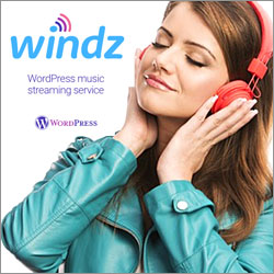 Windz Music streaming service WordPress plugin
