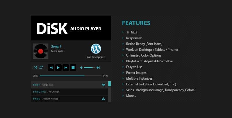 Disk Audio Player - HTML5 Audio Player WordPress Plugin