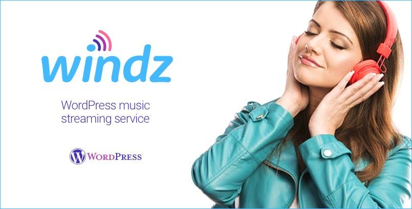 Windz - Music streaming service WordPress plugin