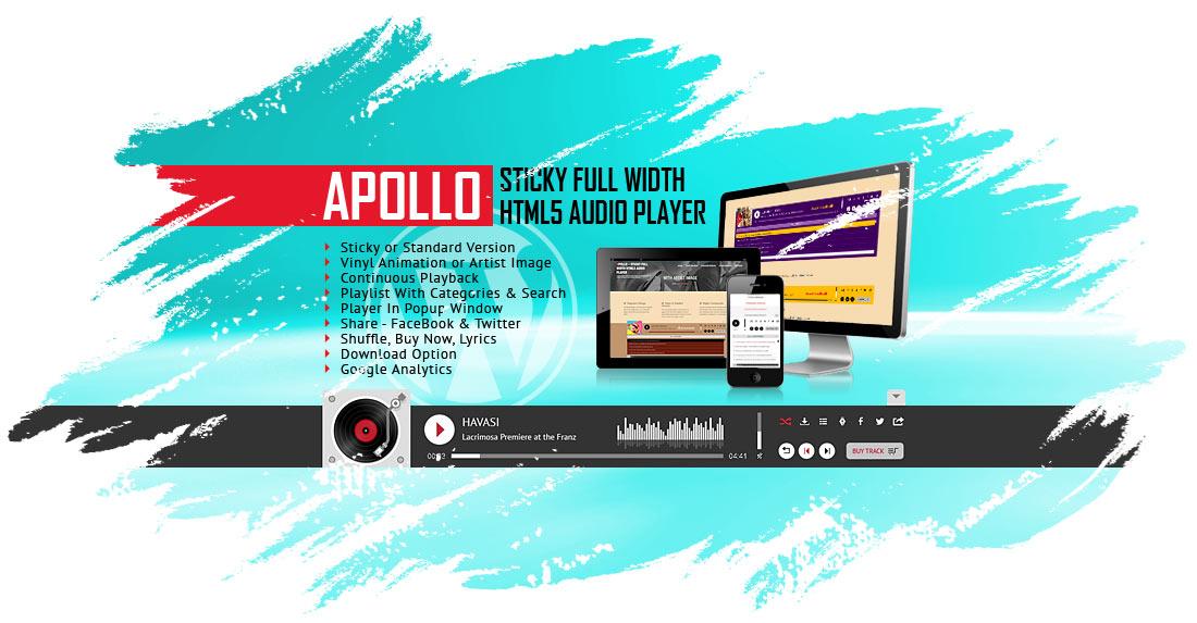 Apollo - Sticky Full Width HTML5 Audio Player WordPress Plugin