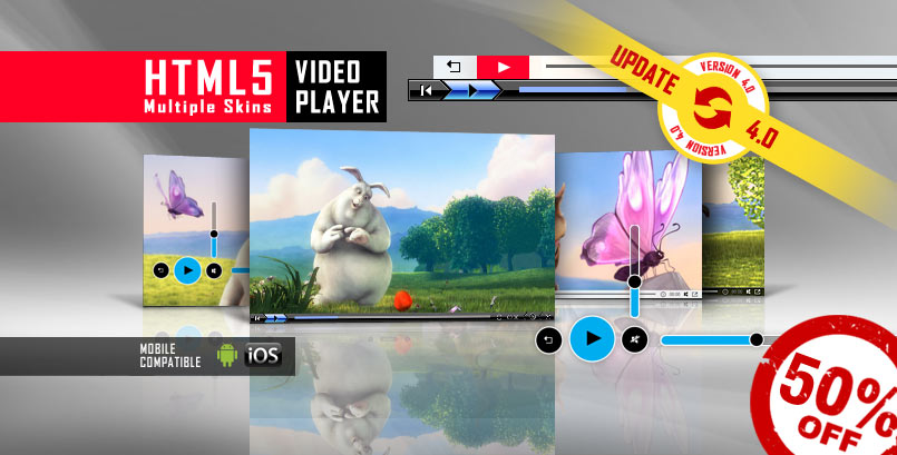 HTML5 Video Player with Multiple Skins - a HTML5 Simple Video Player