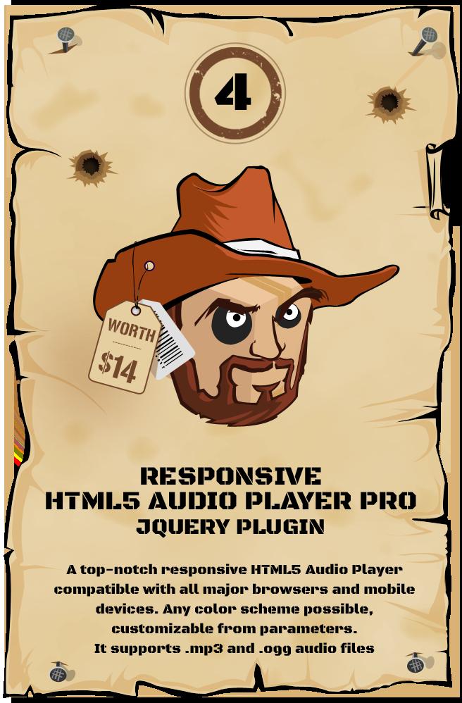 Responsive HTML5 Audio Player PRO jQuery Plugin