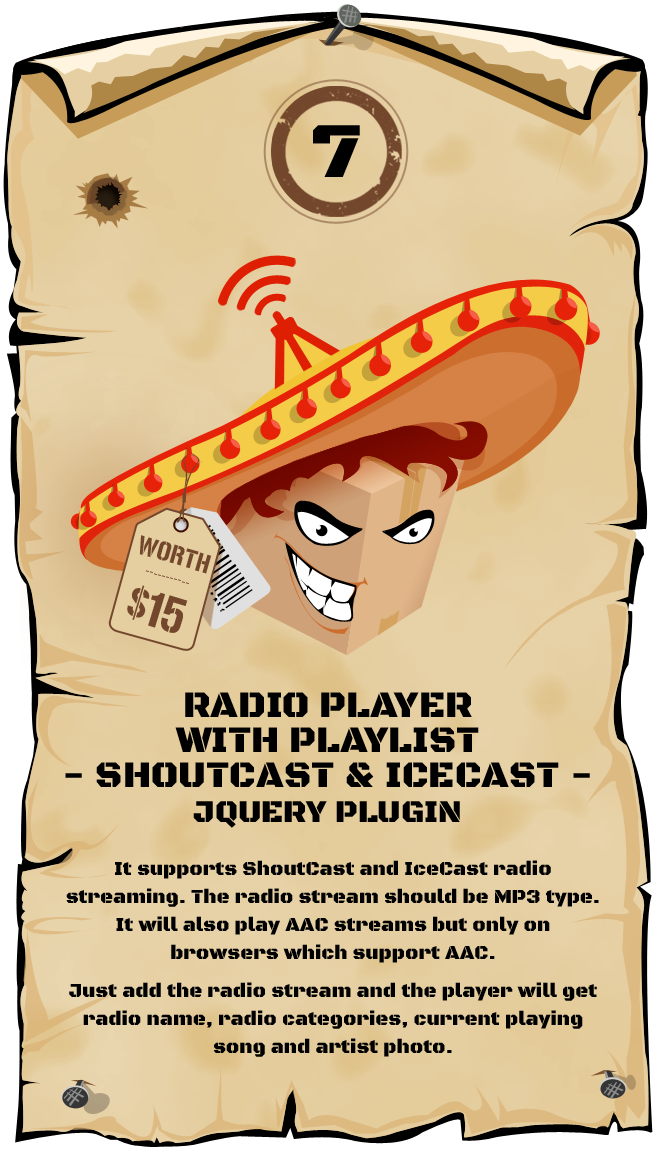Radio Player Shoutcast & Icecast jQuery Plugin