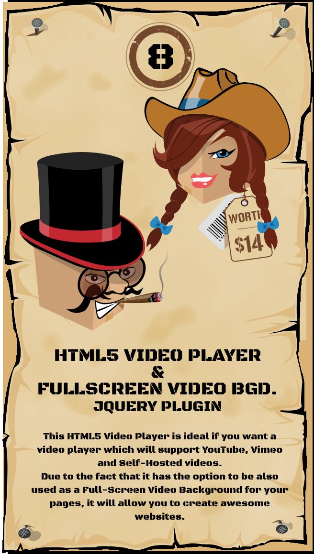 jQuery Video Player & FullScreen Video Background
