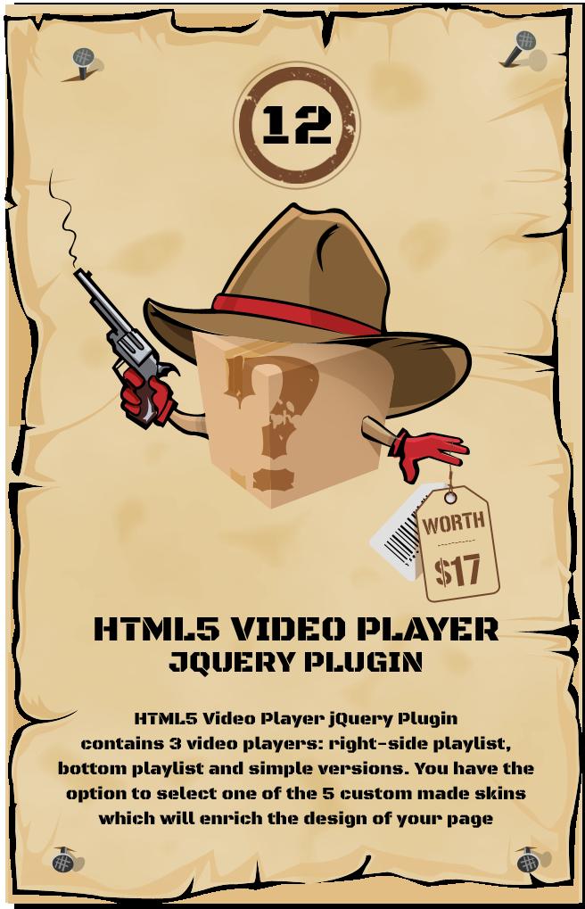 HTML5 Video Player jQuery Plugin
