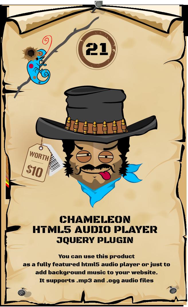 Chameleon HTML5 Audio Player jQuery Plugin