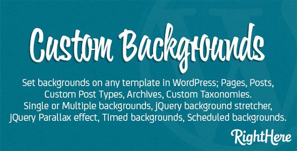 Custom Backgrounds for WordPress – WP Plugin
