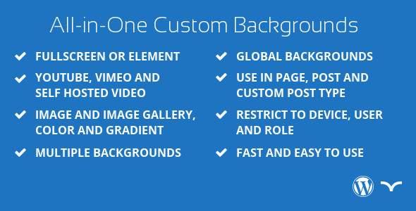 All-in-One Custom Background for WordPress