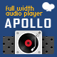 Apollo - Sticky Full Width HTML5 Audio Player - WPBakery Addon