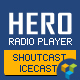 Hero - Shoutcast and Icecast Radio Player With History - WPBakery Addon