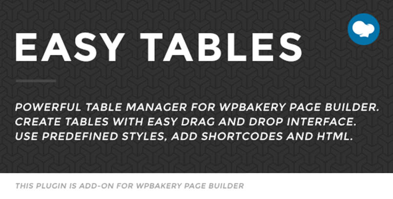 Easy Tables VC Addons - Table Manager for Visual Composer