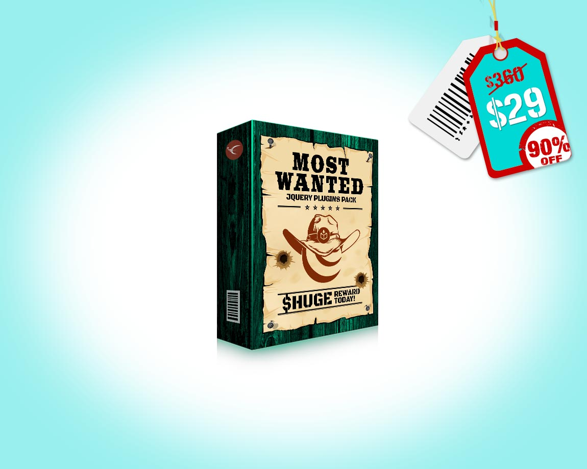 Most Wanted jQuery Plugins Pack - 27 – and counting – Most Wanted jQuery Plugins