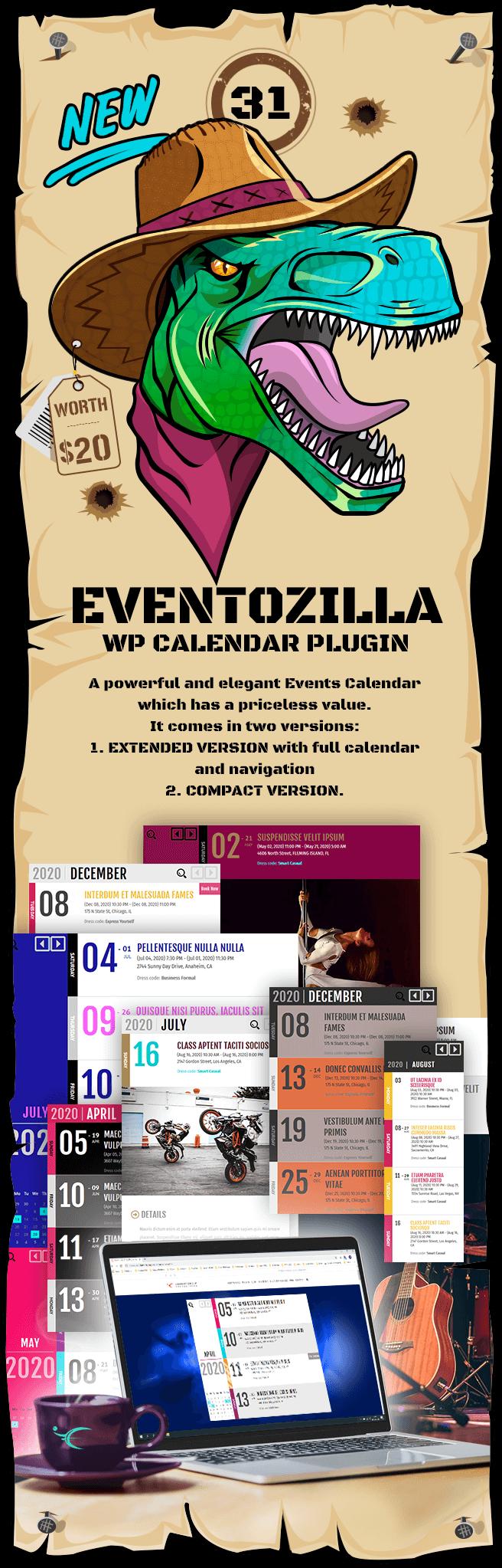 EVENTOZILLA WordPress Calendar - Event Calendar Plugin