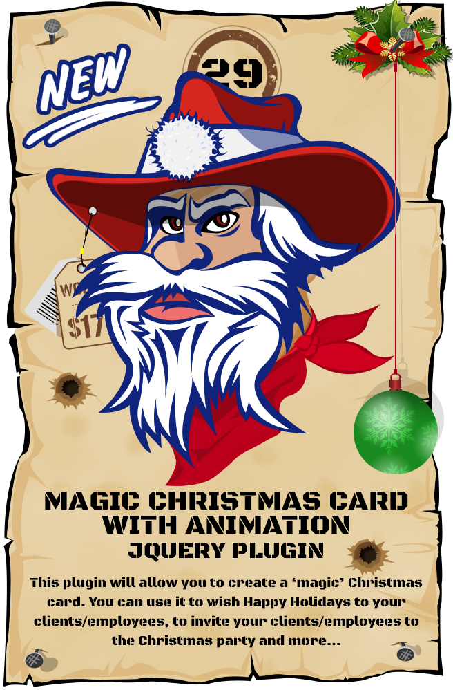 Magic Christmas Card With Animation - jQuery Plugin